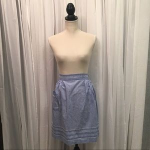 Blue and White Gringham Apron